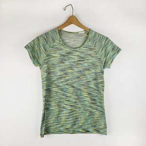 Nike Dri Fit space dyed athletic top M green